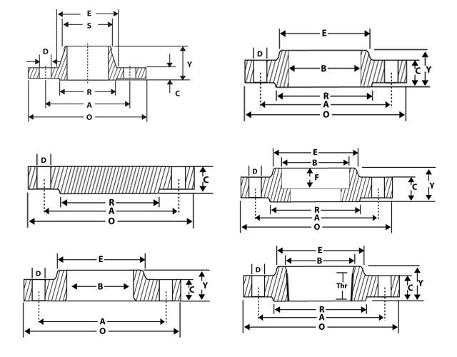 Schedule of weights flanges weldneck